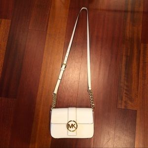 White Michael Kors Bag with Gold hardware